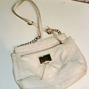 Nichole Miller White scale purse